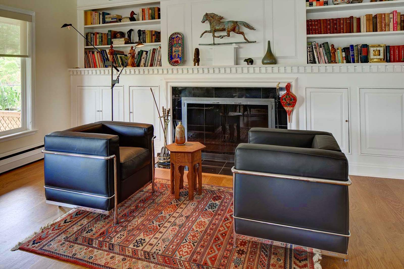 midcentury modern LC3 chairs www.roomsrevamped.com