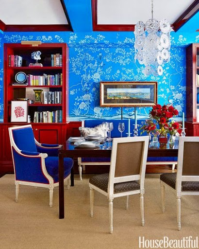 Patriotic dining room www.roomsrevamped.com