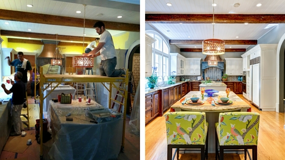 My favorite contractors working on my Atlanta Decorator's Showhouse kitchen. Rooms Revamped Interior Design