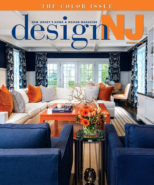I Was Featured In The 2017 June July Issue Of Design Nj But This Livingroom Is A Perfect Example Blue Orange Complementary Color Scheme By Patricia