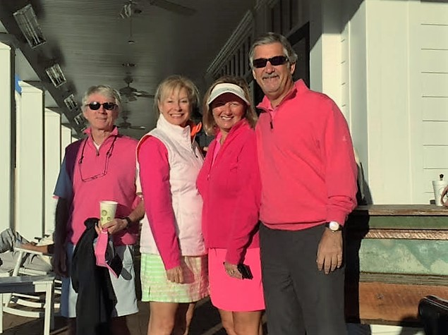 Robin LaMonte is playing golf for a pink ribbon charity event