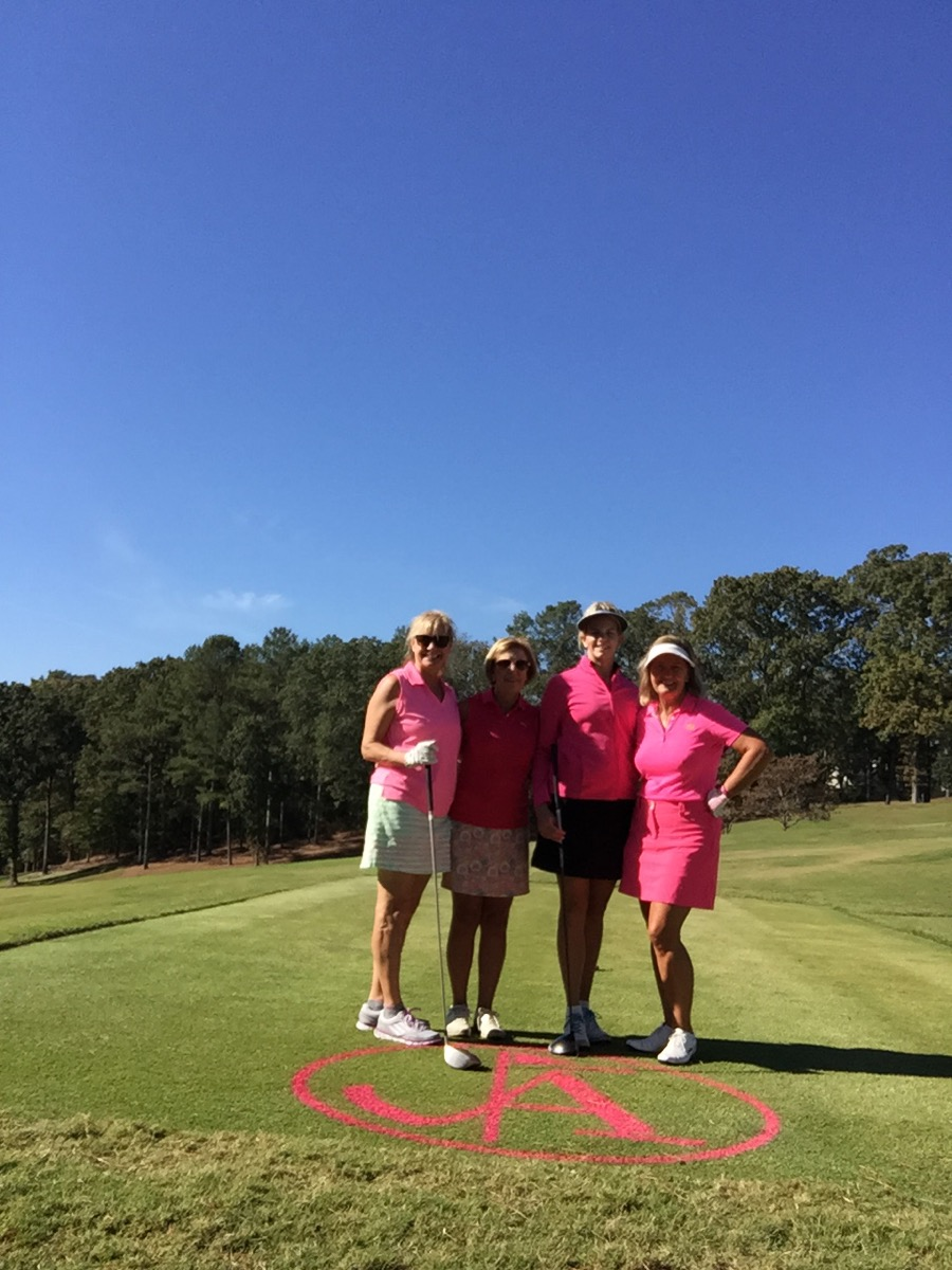 Robin LaMonte is playing golf with women for a pink ribbon charity event