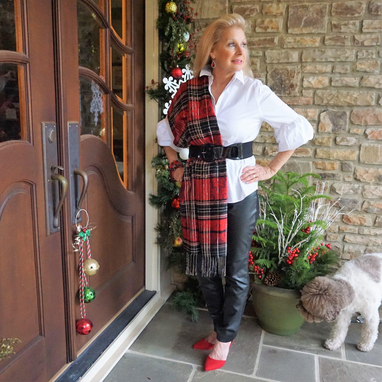 Holiday Fashion- Red Plaid-Hello I'm 50ish